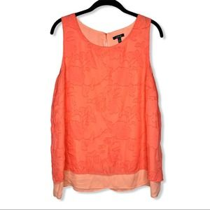 APT. 9 / neon coral floral layered tank top / L